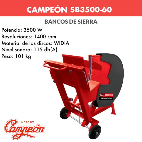 Banco de sierra Campeon SB3500-60