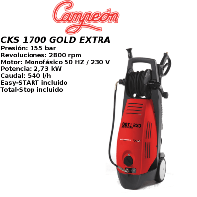 Hidrolimpiadora Campeon CKS 1700 GOLD EXTRA