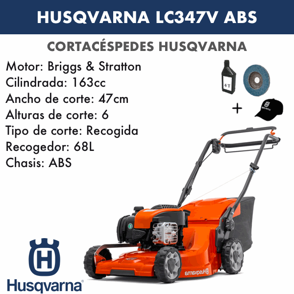 Husqvarna LC347V ABS 163 CC Rasenmäher
