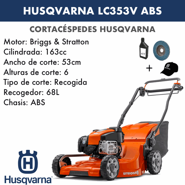 Cortacesped Husqvarna LC353V ABS