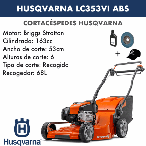 Husqvarna LC353V ABS 163 CC Rasenmäher