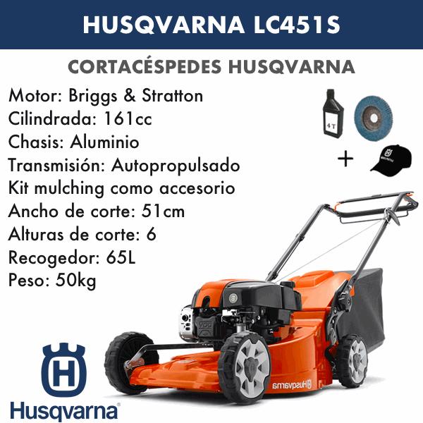Cortacesped Husqvarna LC451S
