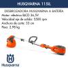Desbrozadora Husqvarna 115iL de batería