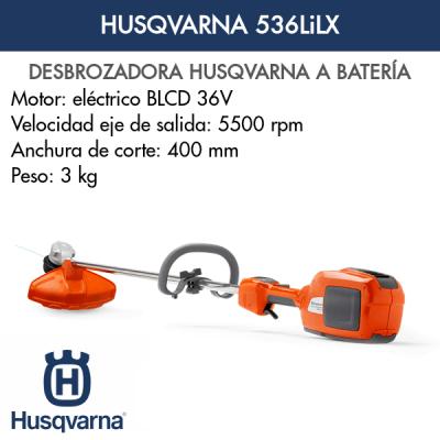 Desbrozadora Husqvarna 536LiLX de batería