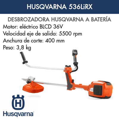 Desbrozadora Husqvarna 536LiRX de batería