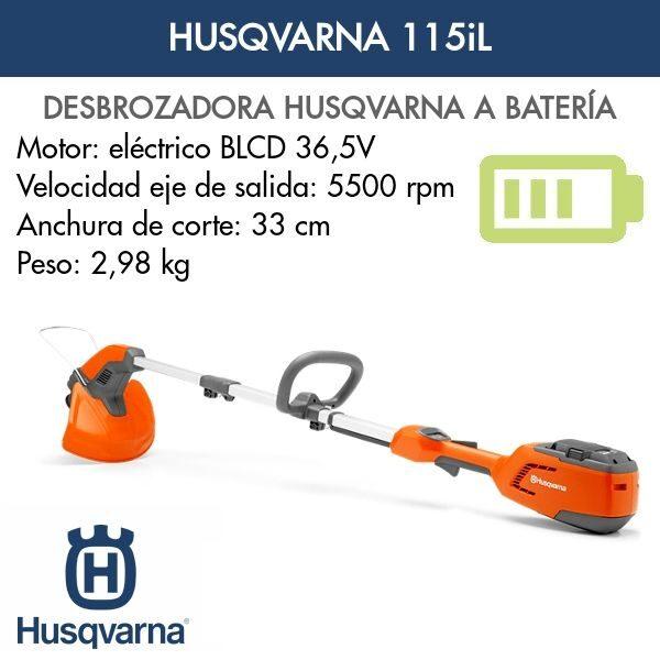 Desbrozadoras bateria Husqvarna 115iL