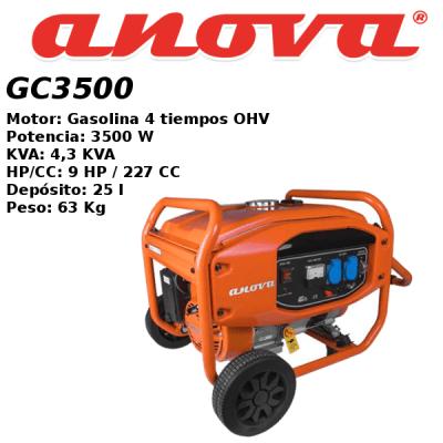 Generador electrico Anova GC3500