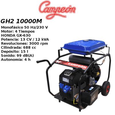Generador electrico Campeon GH2 10000M A-E HONDA
