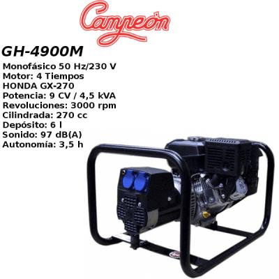 Generador electrico Campeon GH4900M HONDA