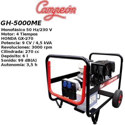 Generador electrico Campeon GH5000ME A-E HONDA