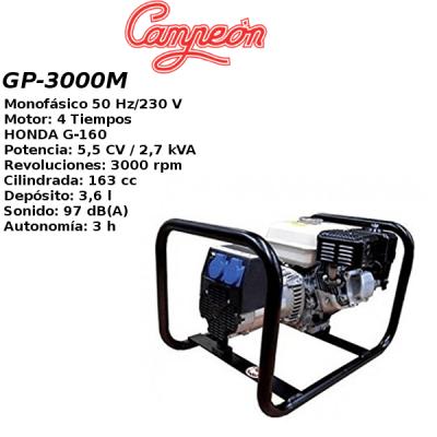 Generador electrico Campeon GP3000M HONDA