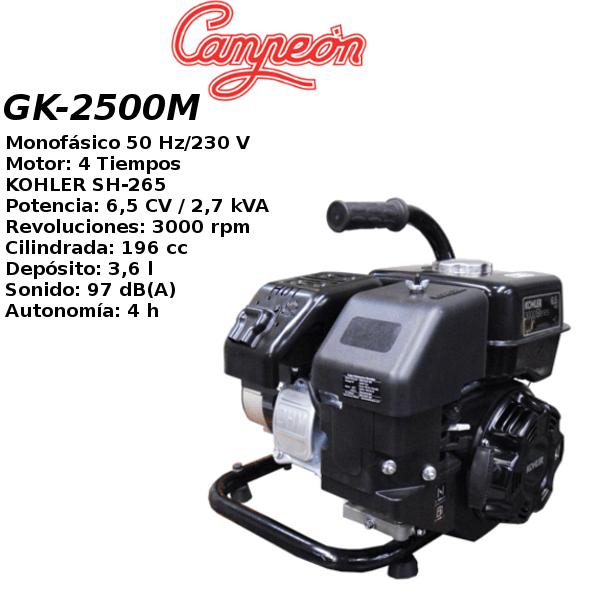 Generador electrico Campeon GK-2500M MONO A-M