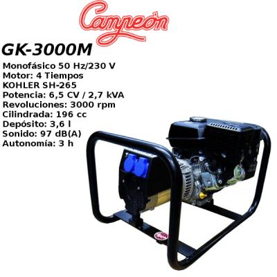 Generador electrico Campeon GK3000M MONO A-M