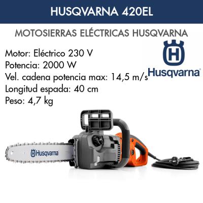 Motosierra Eléctrica Husqvarna 420 EL