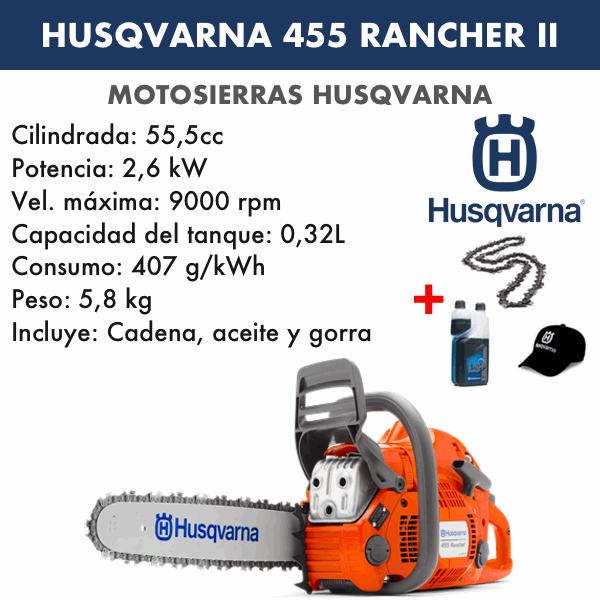 Motosierra Husqvarna 455 Rancher II Autotune