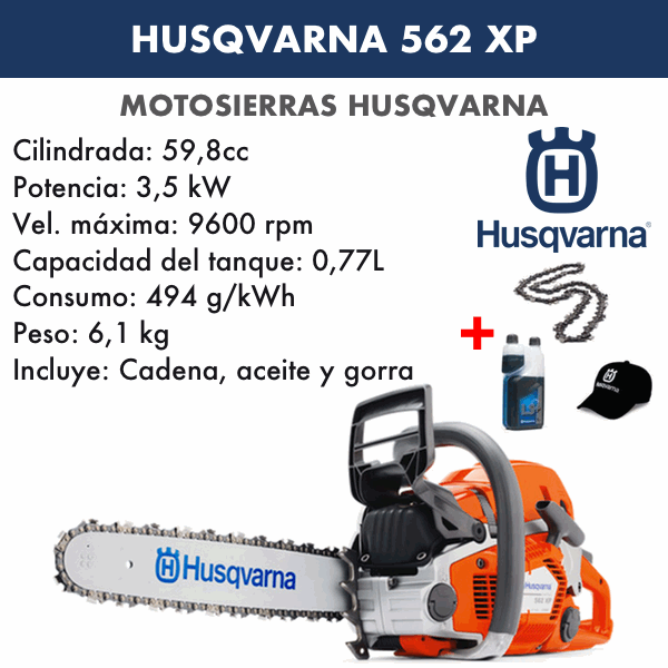 Motosierra Husqvarna 562XP Autotune