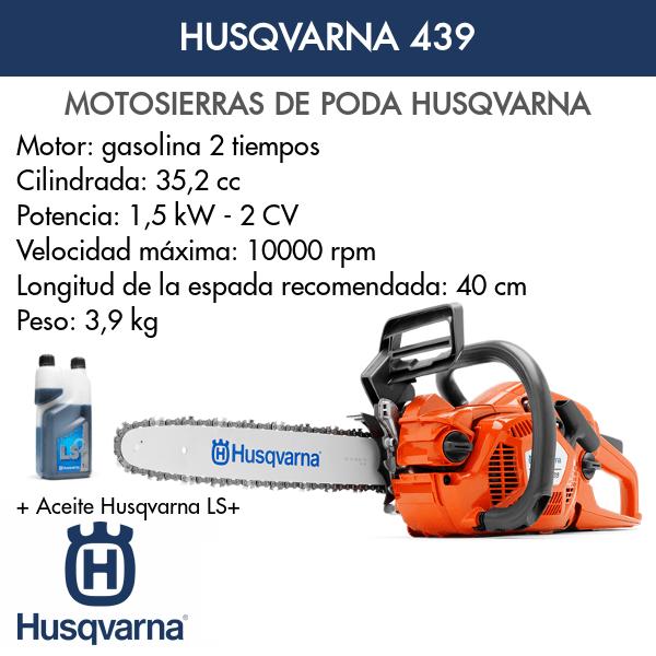 Motosierra Husqvarna de poda 439