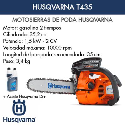Motosierra Husqvarna de poda T435