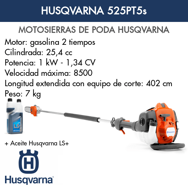 Motosierra de poda Husqvarna 525PT5s