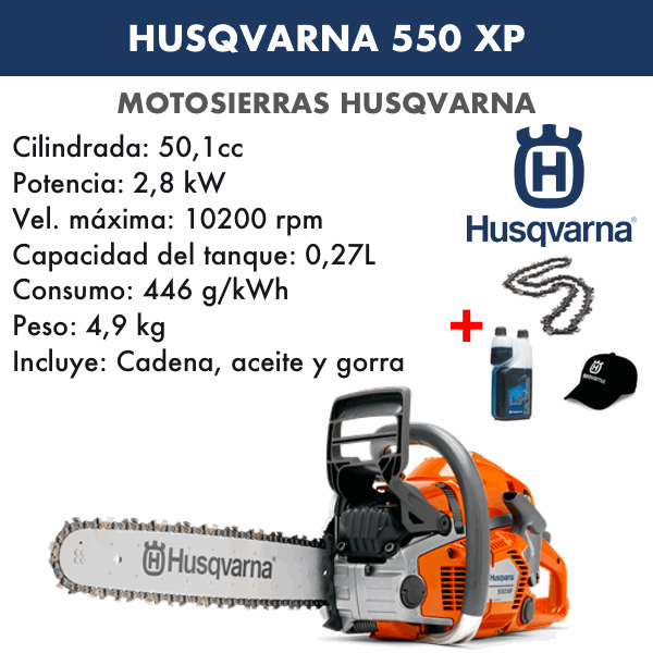 Motosierra husqvarna 550XP Autotune