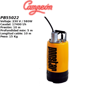 Bomba de agua Campeon PB55022