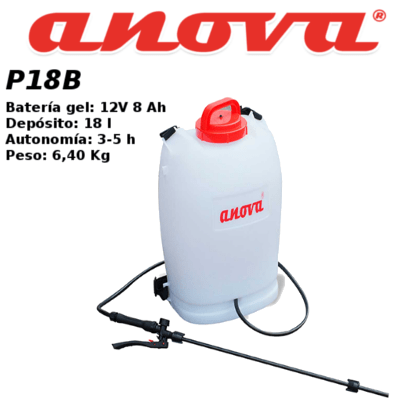 Pulverizadora Bateria anova P18B