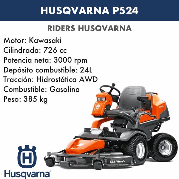 Rider Husqvarna P524+C122