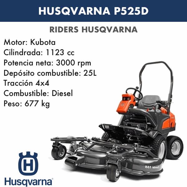 Rider Husqvarna P525D+C155
