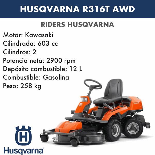 Rider Husqvarna R316T AWD+CC103