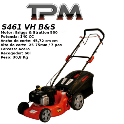 Cortacesped TPM S461 VH B&S