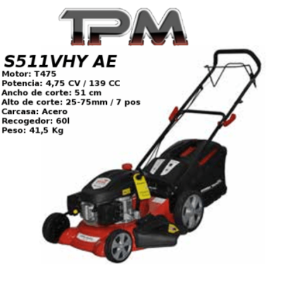 Cortacesped TPM S511VHY AE