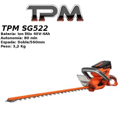 Cortasetos a bateria TPM SG522