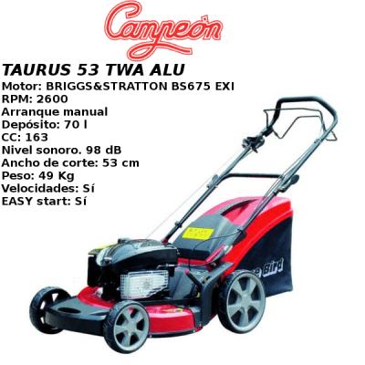 Cortacesped Campeon TAURUS 53 TWA ALU