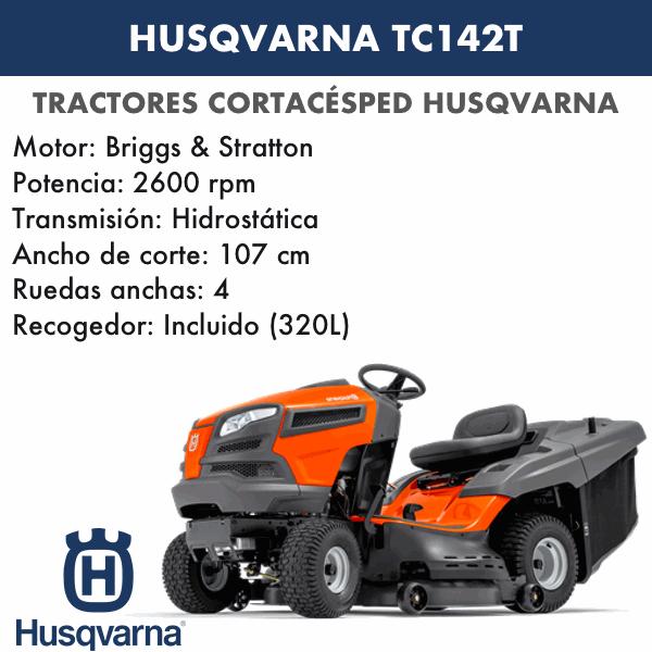 Tractor Cortacesped Husqvarna TC142T