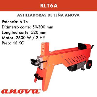 Astilladora leña Anova RLT6A