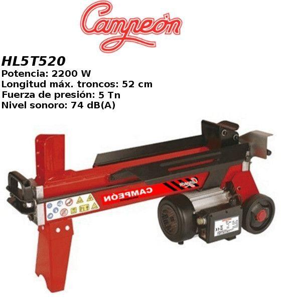 Astilladora de leña Campeón HL5T520