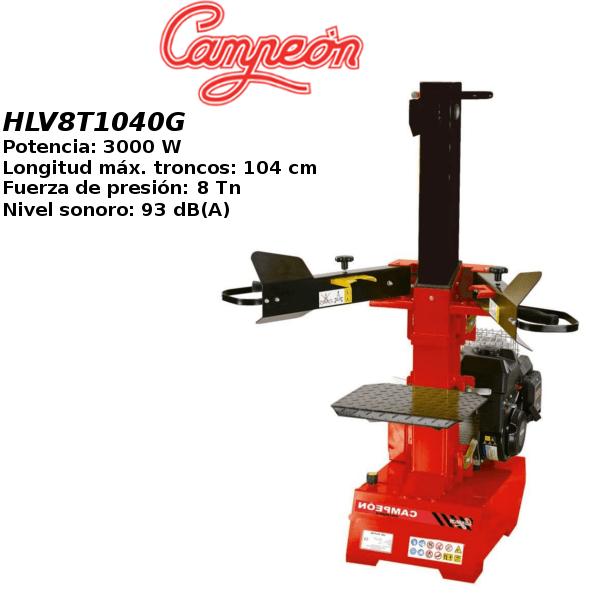 Astilladora de leña Campeón HLV8T1040G