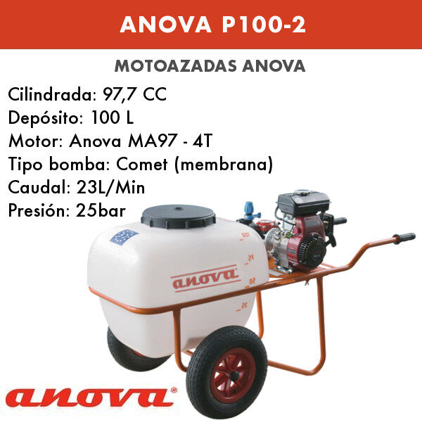 Carretilla sulfatadora Anova P100-2 4T