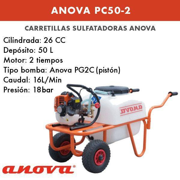 Carretilla sulfatadora Anova PC50-2 2T