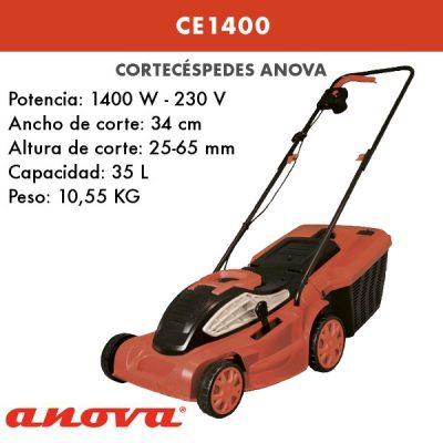 Cortacesped eléctrico Ikra Anova CE1400
