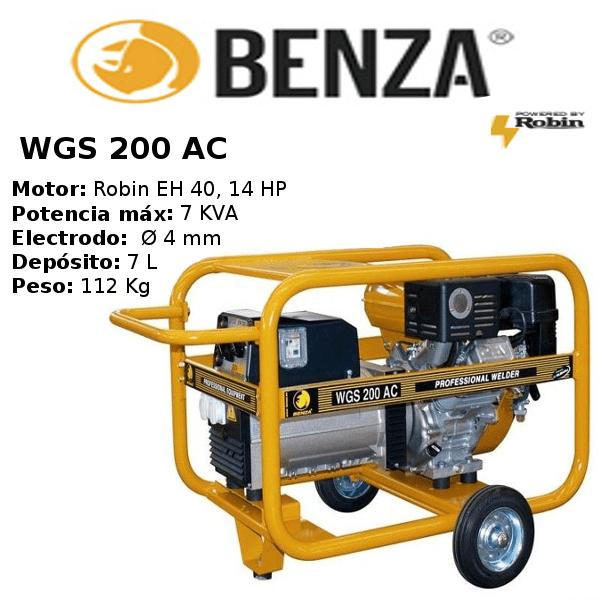 Motosoldadora BENZA WGS 200 AC SUBARU A/E
