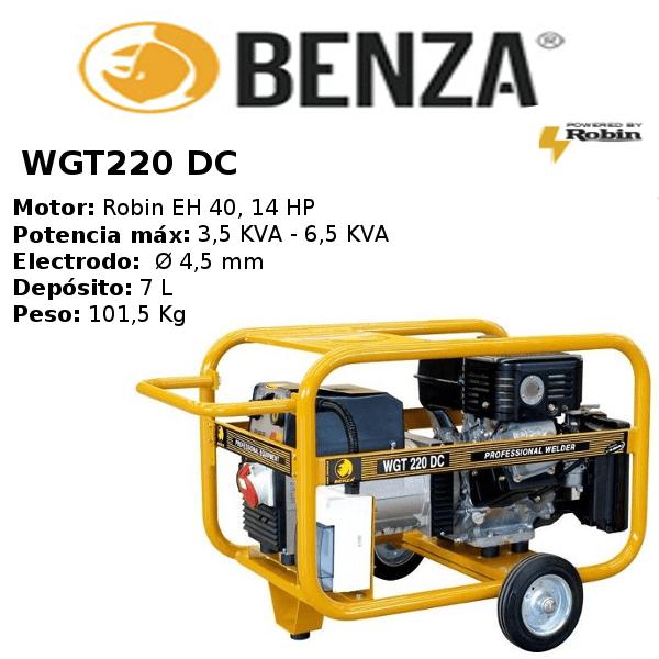 Motosoldadora BENZA WGT 220 DC SUBARU TRIFASICO