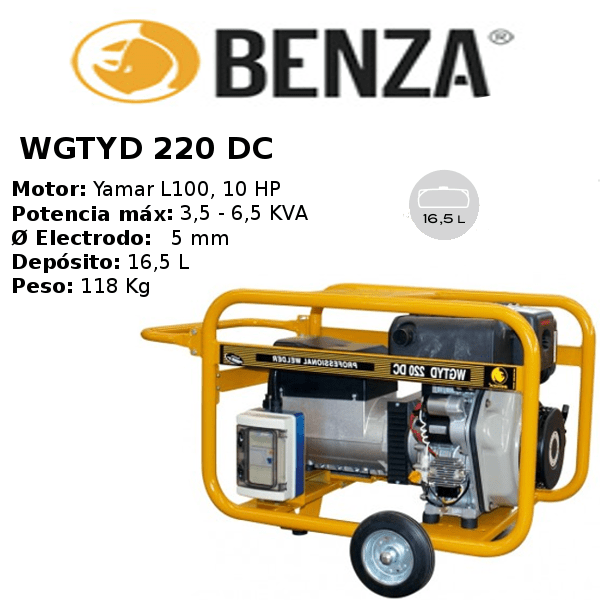 Motosoldadora BENZA WGTYD 220 DC YANMAR Diesel