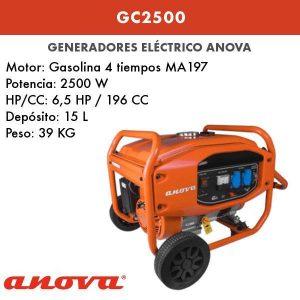 Generador electrico Anova GC2500
