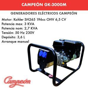 generador eléctrico campeón gk-3000m