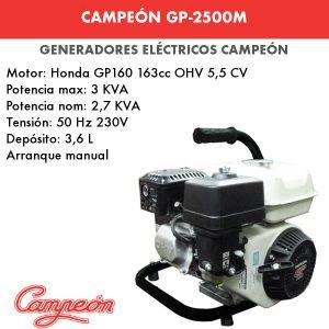 generador electrico campeon gp-2500m
