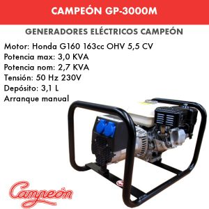 generador eléctrico campeón gp-3000m
