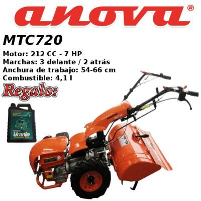 Motocultores gasolina Anova MTC720