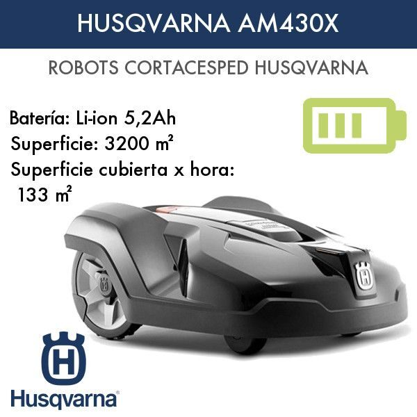 Robot cortacésped Husqvarna AM430X