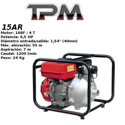 Motobomba agua TPM 15AR